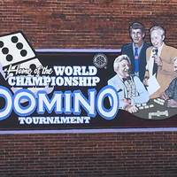 Mural: Home of the World Championship Domino Tournament