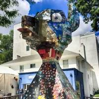 Roy the Dog: Recycled Art