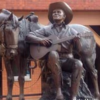 Statue of Gene Autry Singing to his Horse