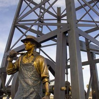 Giant Oil Worker Monument