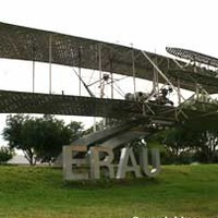 Life-Size Steel Replica Of The First Airplane