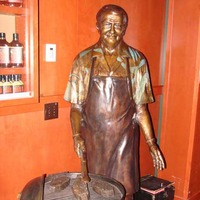 Big Barbecue Grill and Bronze Inventor