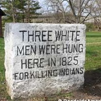 Three White Men Hanged For Killing Indians