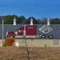 Barn with Semi Truck Shingle Roof