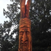 Peter Toth Carving of Chief Tecumseh