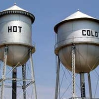Home of Beautiful Women, Hot and Cold Water Towers