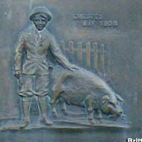 Monument to the Pig that Inspired the Piggy Bank