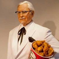 Pose With Wax Colonel Sanders