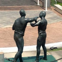 Mighty Mississippi Prize Fight Statue