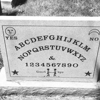 Inventor's Ouija Board Tombstone