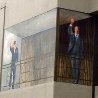 Waving President Ford
