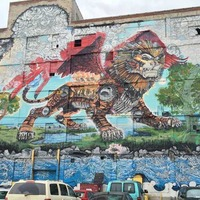 Detroit Chimera Graffiti Mural