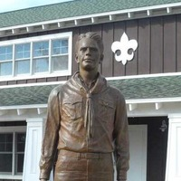 Statue: President Ford As A Boy Scout