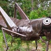 Big Grasshopper Sculpture