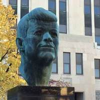 Giant Muscled Head of JFK