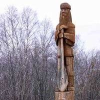 Carved Tree Trunk Voyageur