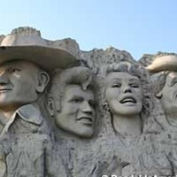 Mount Rushmore with Fake Celebrity Heads