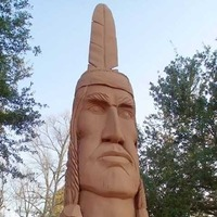 Crooked Feather, 30-Foot-Tall Indian Head