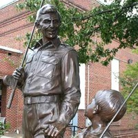 Statues of Andy and Opie