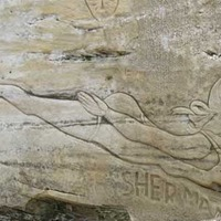 Sandstone Cliff Carvings