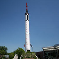 92-Foot-Tall Mercury Redstone Rocket Replica