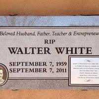 Tombstone of Breaking Bad's Walter White