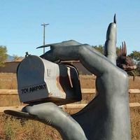 Hand Mail Box and Rock Lizard