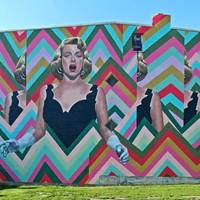 Psychedelic Rosemary Clooney Mural