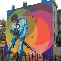 Mr. Dynamite: James Brown Mural