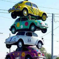 Tower of VW Bugs