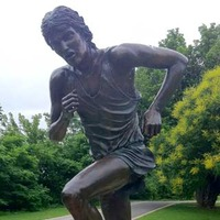 Statue of Runner Who Died in a Car Trunk