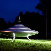 Flying Saucer in Town Named Mars