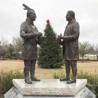 Statues of King Hagler and General Kershaw