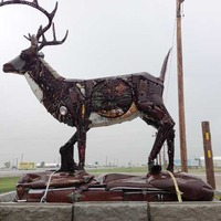 Whitetail Deer made of Car Parts