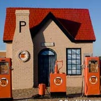 Restored 1929 Route 66 Gas Station