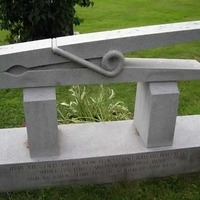 Clothespin Grave Marker