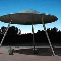 Flying Saucer with Transporter Beam
