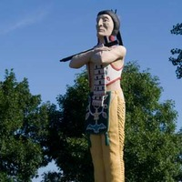 Big Statue of Hiawatha