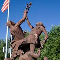 Indian Lacrosse Players Statue