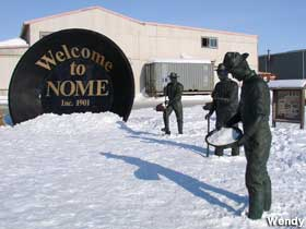 Welcome to Nome gold pan.