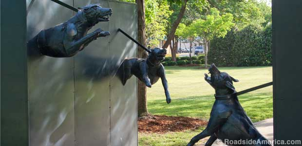 Racist dogs statue.