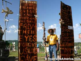 9/11 Memorial in the African Village.