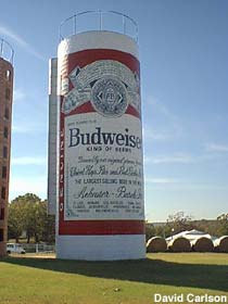 Budweiser beer can.