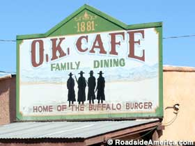 Dining at the O.K. Cafe.