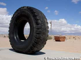 Tire for 190-ton mining truck.