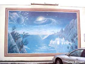 Outside space mural.