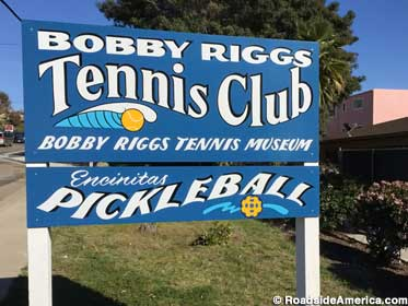 Tennis club and museum sign.