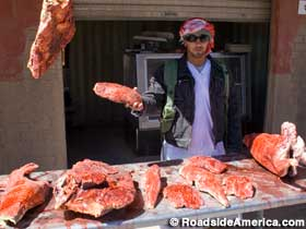 A harmless meat vendor -- or is he?