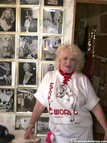 Dixie Evans and the history wall