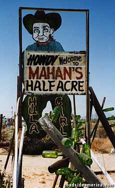 Mahan's Half Acre sign.